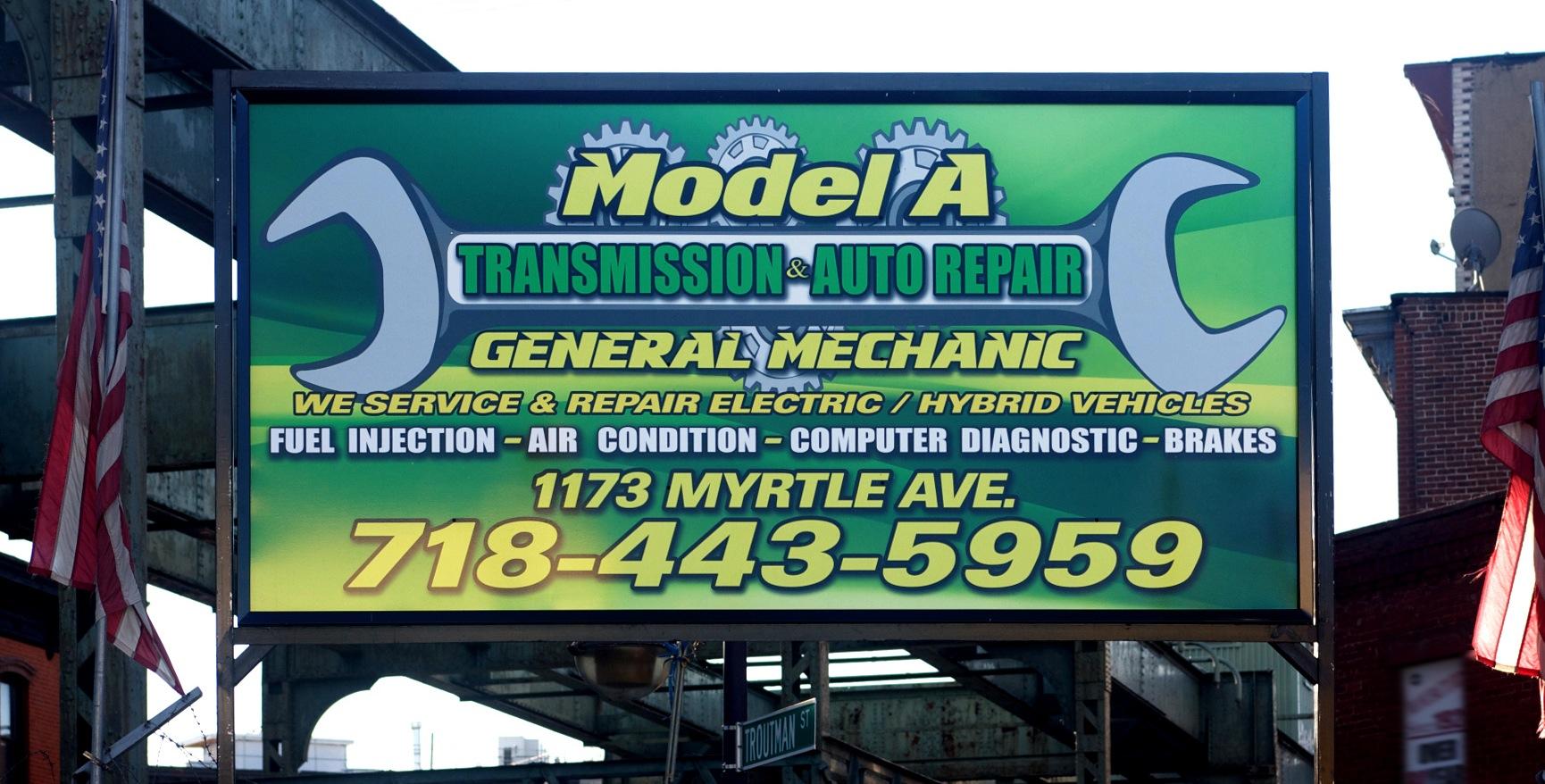 Automotive Repair Signs : Model a transmission auto repair